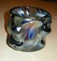Iridescent knobbly freeform vase - Murano, Czech, Scandinavian? Dscn9116