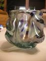 Iridescent knobbly freeform vase - Murano, Czech, Scandinavian? Dscn9117