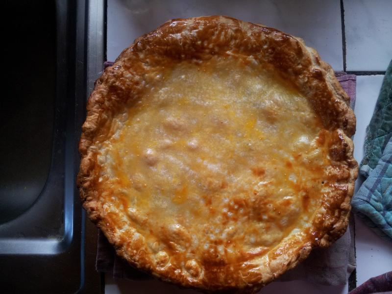 Tourte aux pommes de terre , lardons et champignons 20121110