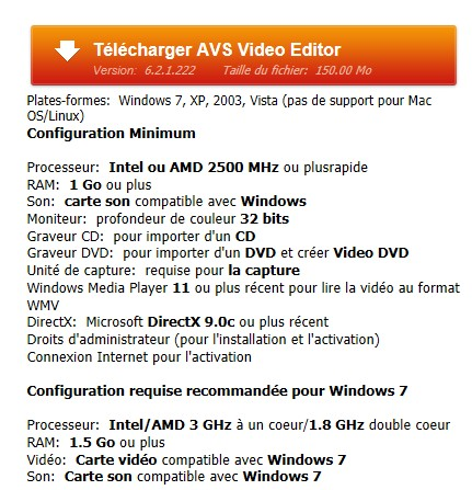 [Débutant]Télécharger et Installer AVS Vidéo Editor Img310