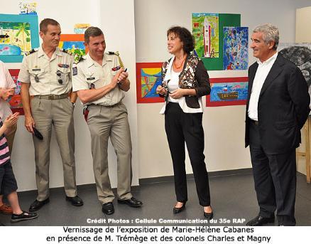 Inauguration au 35e RAP d'une exposition « le voyage : dialogue des mondes » 2012_010
