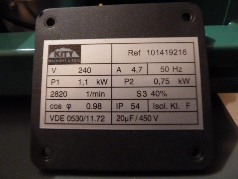 Sens de rotation sur Kity 419 P1050717