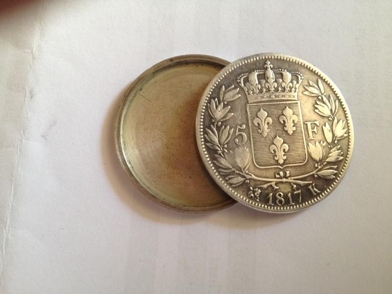 5 Francs - Louis XVIII - 1817  K - Boite de Forçat Img_0313