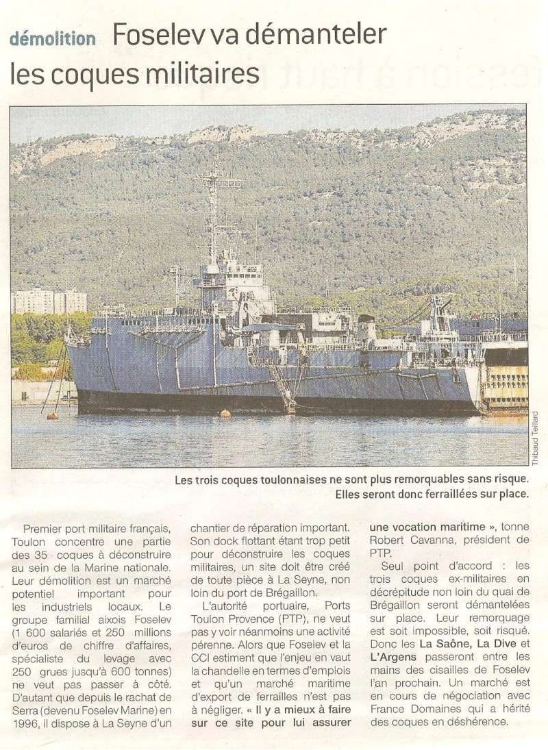 L'Aquitaine arrive ; La Saone , La Dive et L'Argens ferraillés 00410