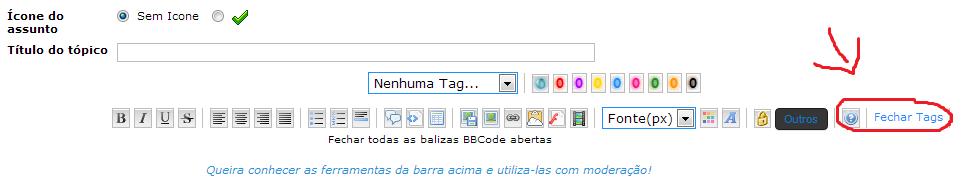Ocultar o Fechar tags Sem_ta16