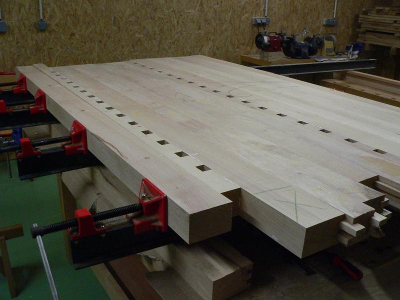 Stage menuiserie : construction d'un établi P1010616