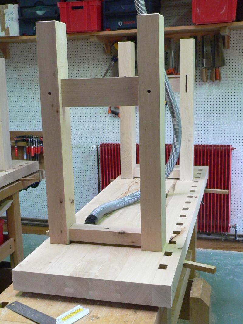 Stage menuiserie : construction d'un établi P1010621