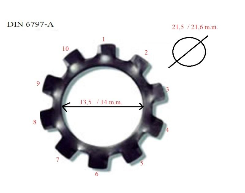 rondelles maître-cylindre Arande10