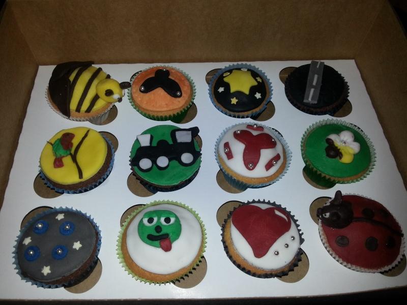 """Cupcakes pour anniversaire """"Garçons"""" 20121110"""
