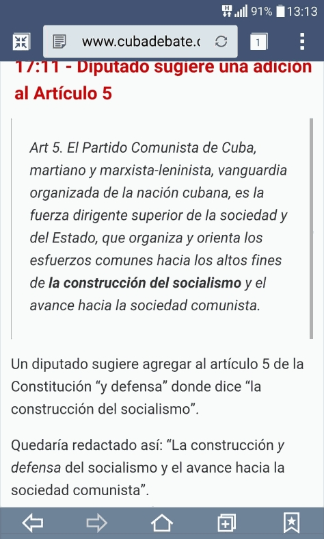 Cuba elimina el termino comunista. Httpsz11