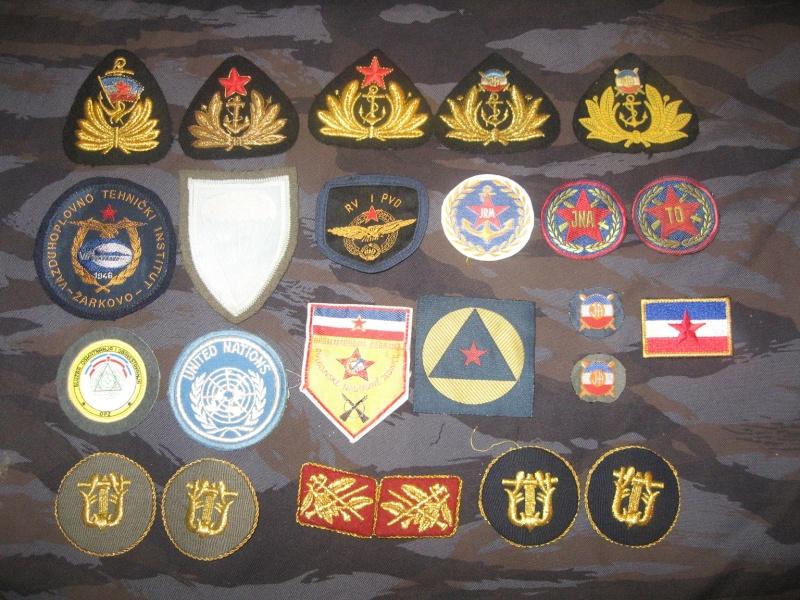 Emblems of the army and police JNA, Yugoslav, Serbian, VRS, VRSK Img_2426