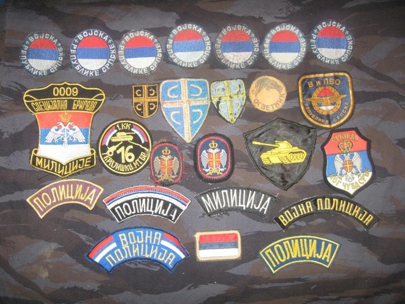 Emblems of the army and police JNA, Yugoslav, Serbian, VRS, VRSK Img_2427