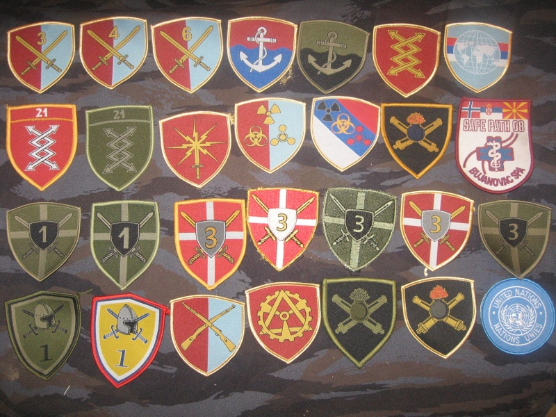 Emblems of the army and police JNA, Yugoslav, Serbian, VRS, VRSK Img_2442