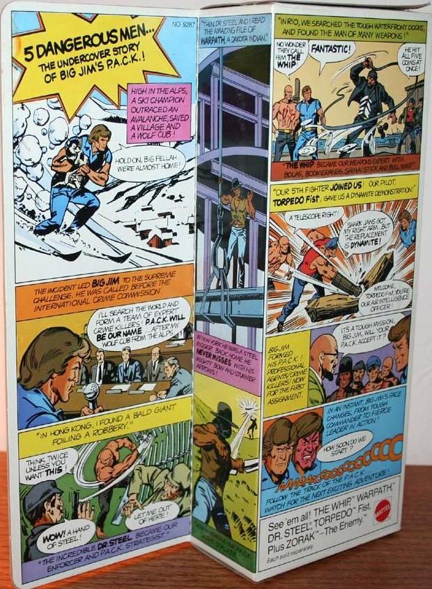 """BIG JIM """"The Leader"""" he's Double Trouble P.A.C.K. No. 9287 Kk14"""
