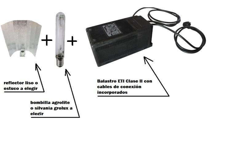 KITS COMPLETOS: BOMBILLA+REFLECTOR+BALASTRO+CABLES Elemen10