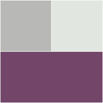 Chambre parentale associations de couleurs aubergine/gris Page10