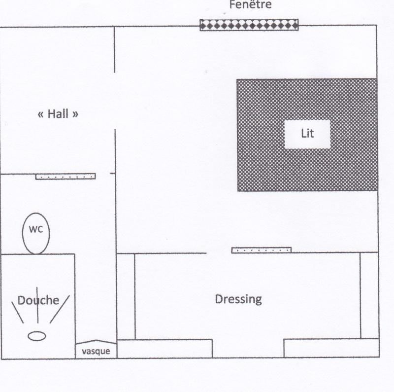Chambre parentale associations de couleurs aubergine/gris Plan_c16