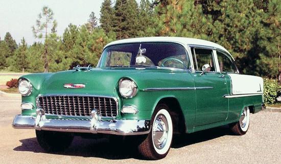 Les Chevrolet de 1949 à 1959 stock 55bl-f10