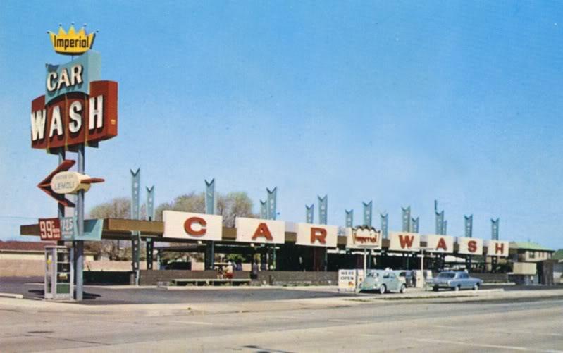 Car Wash 1950s - 1960s - Centre de lavage auto A77310