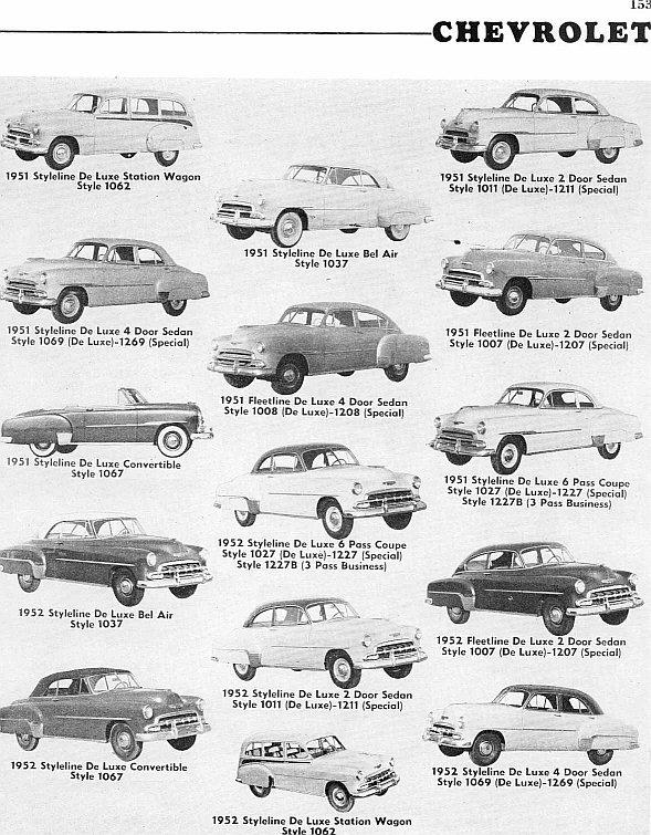 Les Chevrolet de 1949 à 1959 stock Chevy113