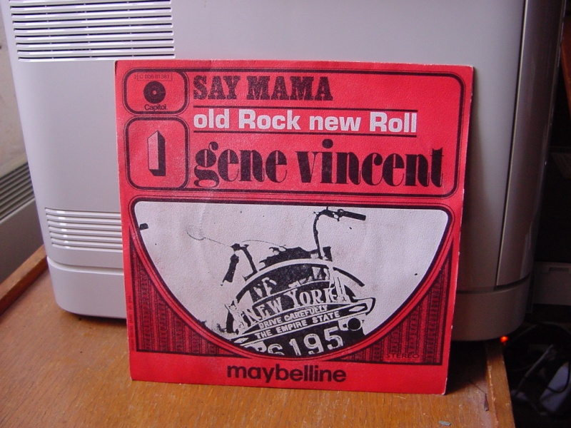 Gene Vincent records Dsc08941