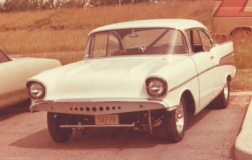 57' Chevy Gasser  White210