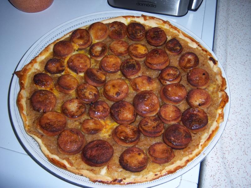 Tarte aux boudins blancs, compotéee d'oignons et pommes 100_2812