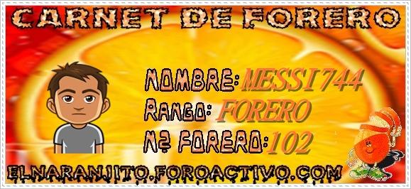 CARNET DE FORERO DE MESSI744 Messi710