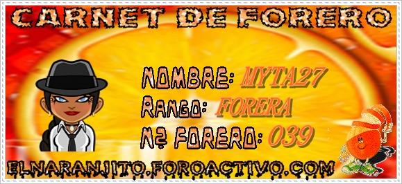 CARNET DE FORERO DE MYTA27 Myta2710