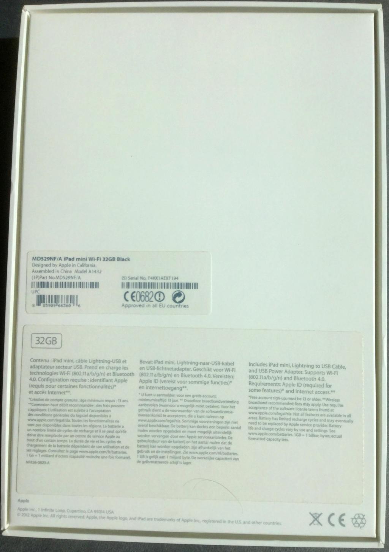 [VENDU] iPad mini 1e gén. A1432 32 Go Wifi 2020-042