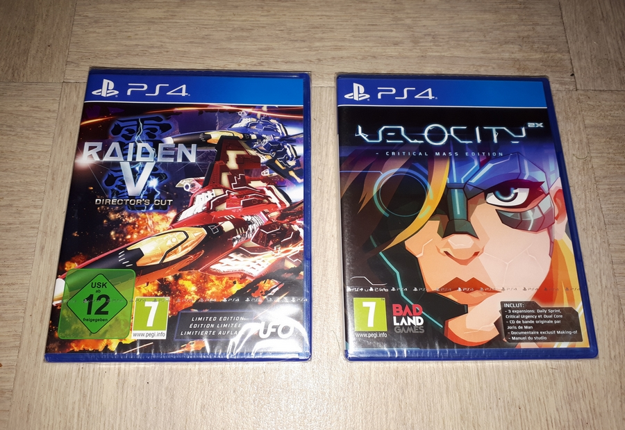 Velocity 2X + Raiden V ps4 sous blister,Yakuza 6 20190311