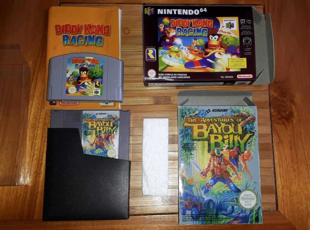 [VDS]Lot The Adventures of Bayou Billy NES + Diddy Kong Racing 64 20200212