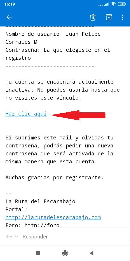 Enlace de activación de nuevos usuarios remite a URL Inactiva Foro10