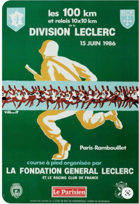 Les  100 km de le division Leclerc Paris Rambouillet 1986 03210