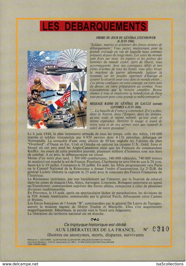Encart Triptyque sur Les Débarquements - n° 0310/1500  099_0015