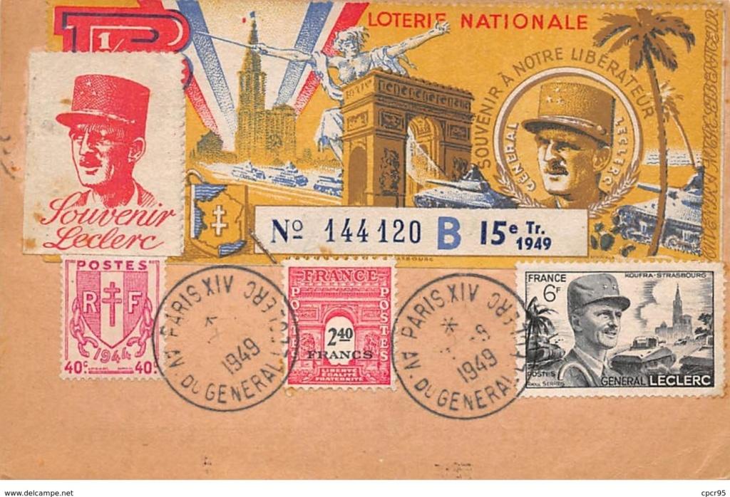 Carte  franchise militaire Paris 1949 171_0012