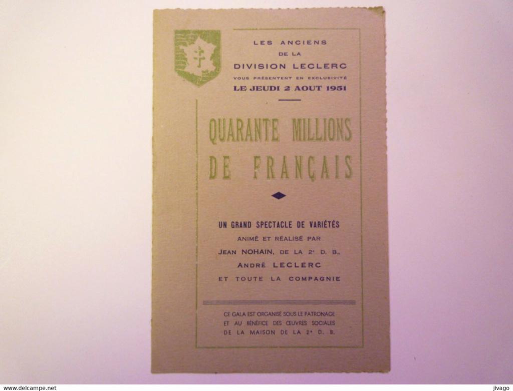 Tarbes 1951 Spectacle animé par Jean NOHAIN de la 2è D.B.  367_0011