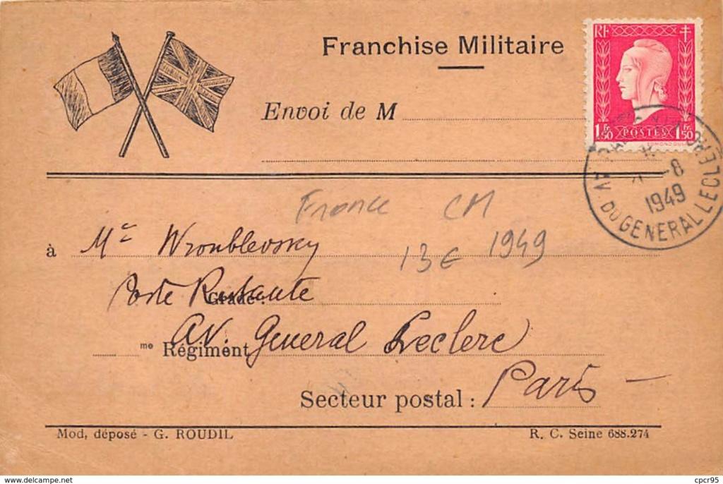 CARTE MAXIMUM. n°207907. 1949.  511_0010