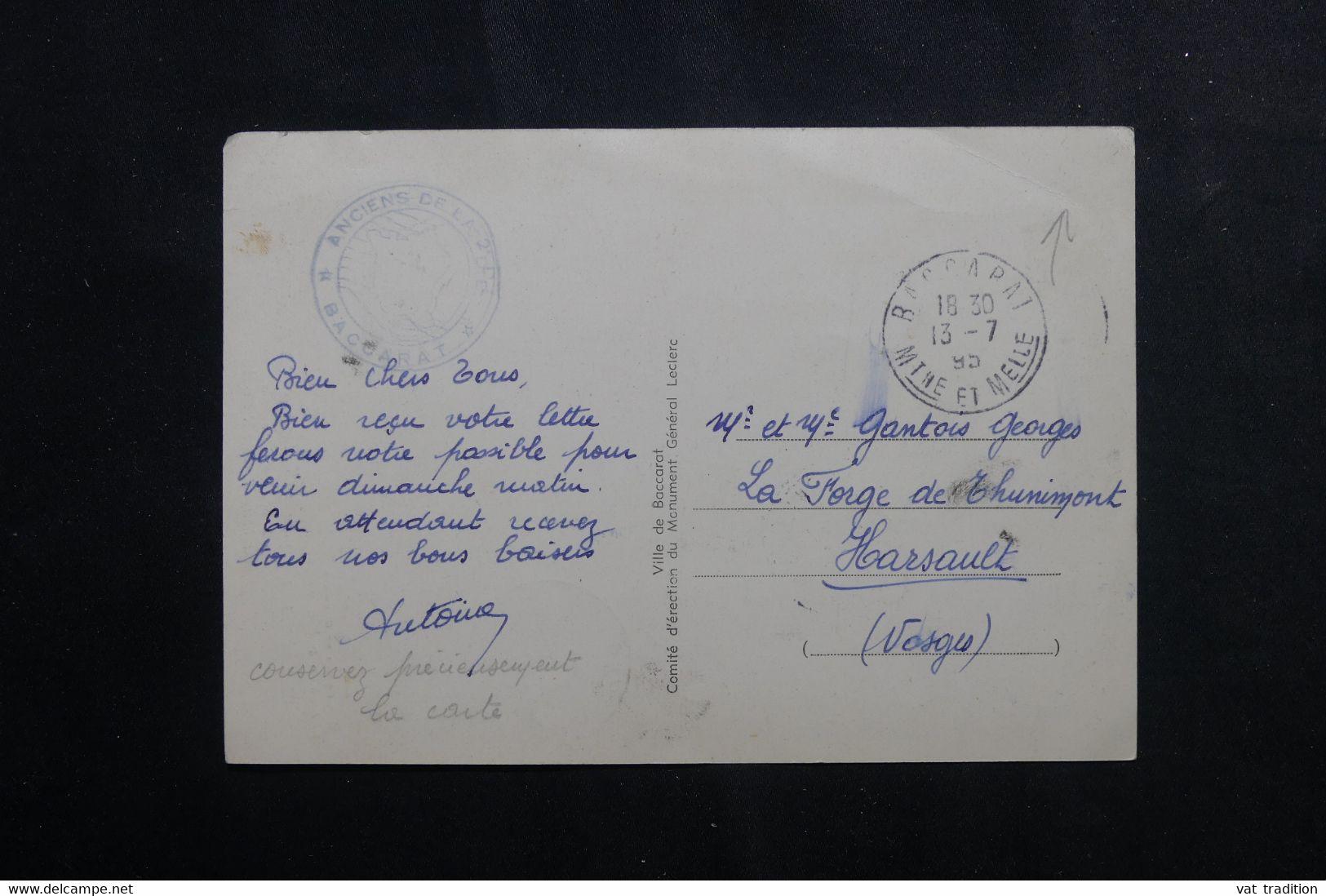 Baccarat : Journée LECLERC 28 octobre 1951 650_0013