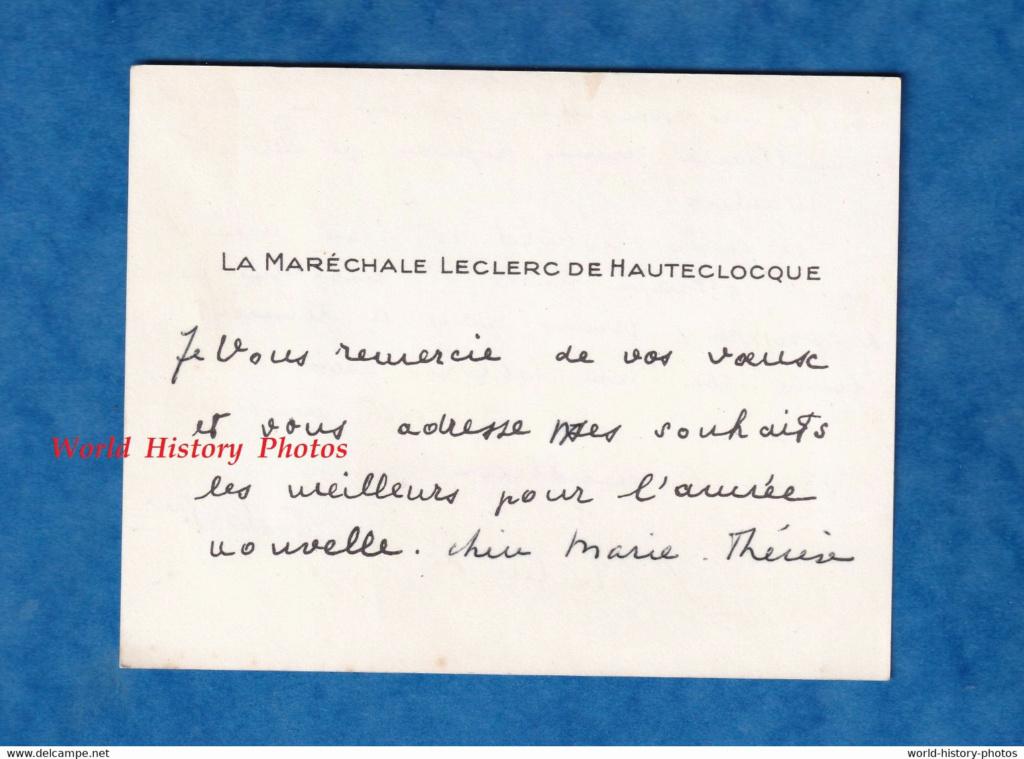 ( Thérèse de GARGAN ) La Maréchale LECLERC de HAUTECLOCQUE  956_0011