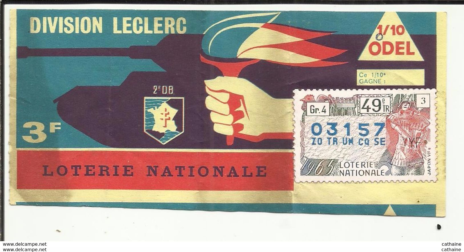 Billet Loterie Nationale  996_0010