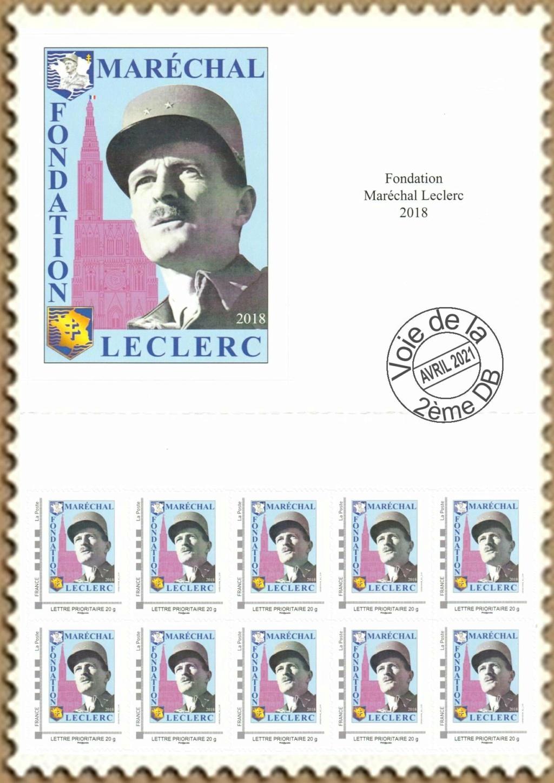 Vignette et timbres personnalisés Fondation Marechal Leclerc Indoch11