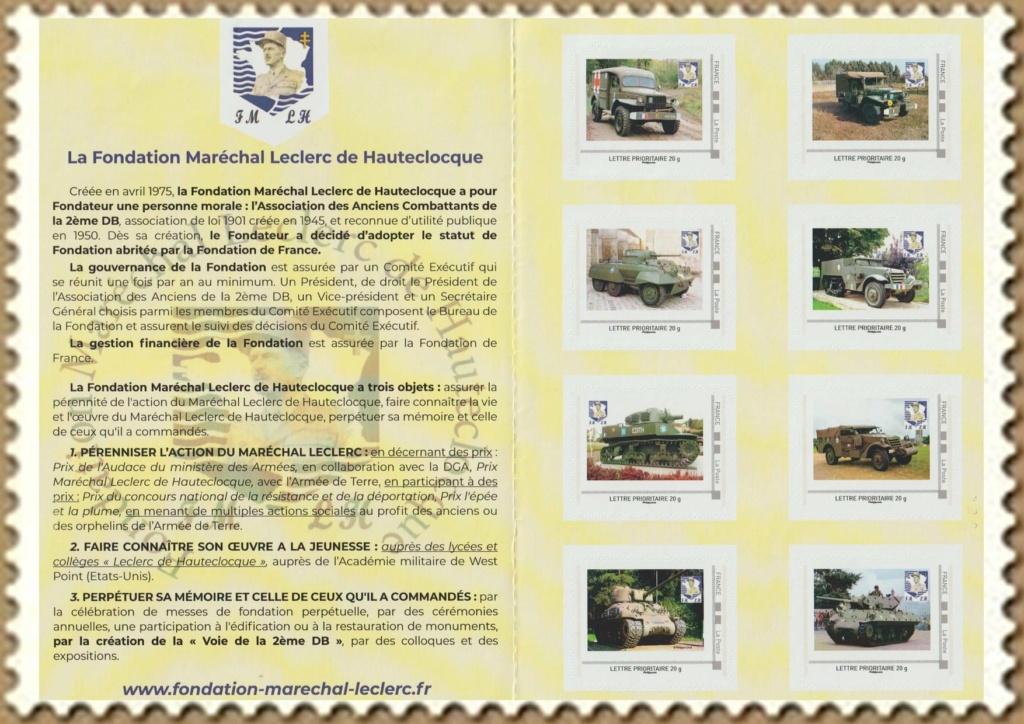 Vignette et timbres personnalisés Fondation Marechal Leclerc Indoch13