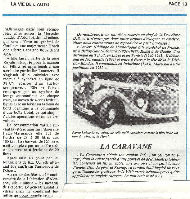 Les voitures du Général LECLERC Veh1110