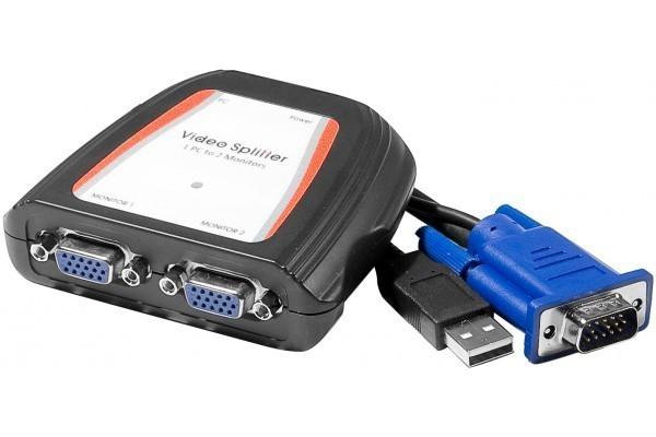 écran + vidéoprojecteur avec doubleur VGA Splitt10