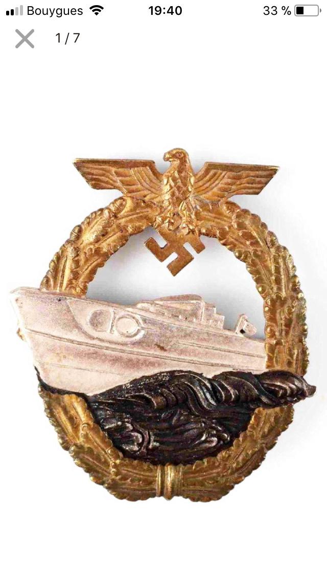 Badges kriegsmarine s-boat et haute-mer Ca428010