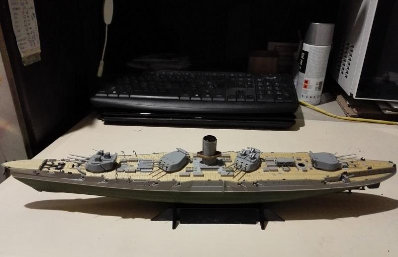 Marat Battleship Russian de Zvezda a 1/350 Img_2114