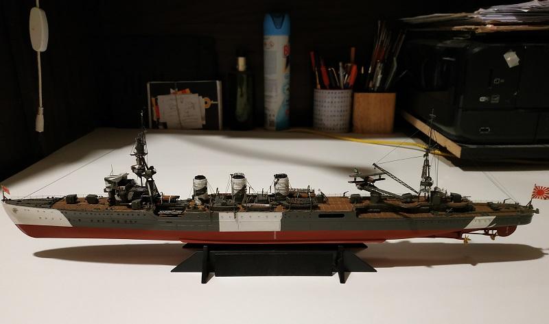 IJN Light Cruiser Tama a 1/350 de Aoshima Img_2483