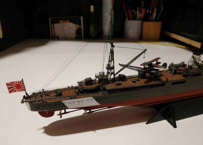 IJN Light Cruiser Tama a 1/350 de Aoshima Img_2492