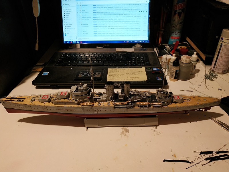 HMS Exeter a 1/350 de Trumpeter Img_2523